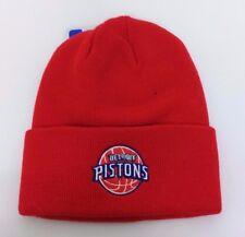 Detroit Pistons NBA Red Winter Cuffed Cuff Knit Beanie Hat Skully Cap NWT