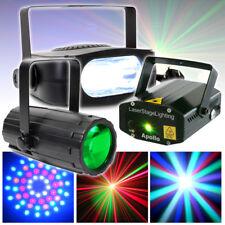 BeamZ Disco DJ Moonflower 5 colour LED Light + Laser + Strobe Party Set