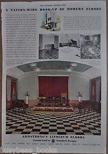 1937 ARMSTRONG Linoleum advertisement, Radio Studios, NBC, WSM, WMMN, KRLD, KFBK