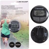 Dunlop LCD Step Distnace Pedometer Walking jogging Counter Fitness Track Clip UK