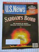 U.S. NEWS MAGAZINE NOVEMBER 1991 SADDAM'S BOMB SECRETS OF IRAQ'S NUCLEAR WEAPONS