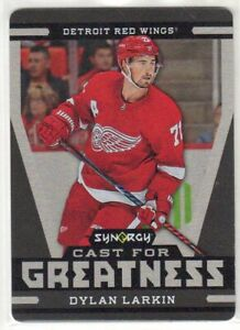 2018/19 DYLAN LARKIN SYNERGY CAST FOR GREATNESS METAL CARD #CG-27 RED WINGS!  rb