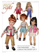 FUN FASHIONS -- CLOTHES PATTERN FOR GOTZ 50 CM HANNAH & HAPPY KIDZ DOLLS