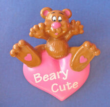 Easter Unlimited Pin Valentines Vintage Bear Heart Beary Cute Pink Holiday