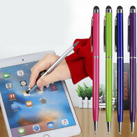 Lot 2 in 1 Mobile Phone Tablet Touch Screen Ballpoint Pen Capacitive Stylus Pens