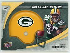 DONALD DRIVER  /1000 2008 UPPER DECK NFL GAMERS GREEN BAY HELMET #15