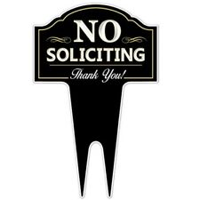 No Soliciting Sign Outdoor Metal Yard Home Business Home Weatherproof New