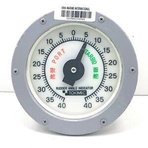 Osaka Nunotani JIS F 8522 sd 200 Electric Rudder Angle Indicator IMI