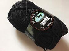 Dark Horse Yarns Desert Flower #800 Black Mercerized Cotton 50Gr 125Y