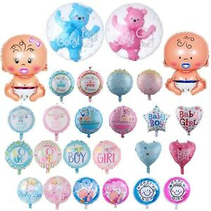 Its a Boy Its a Girl Helium Foil Balloons Party Decorations New Born Baby Shower