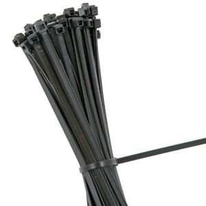 10x Black 300 x 4.8mm LARGE CABLE / ZIP TIES Strong Nylon Tidy High Quality UK