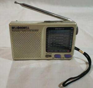 Working Bell & Howell Shortwave Radio AM/FM/MW/SW 9 Band World Receiver MW.SW1-7