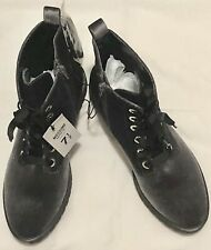 Mossimo Supply Co. Since 1987 Women's Gray Velvet Lace Up Combat Boots Size 7.5