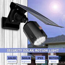 500LM Solar Power Wall Lights ALUMINUM Motion Sensor Outdoor LED Lamp Spotlight