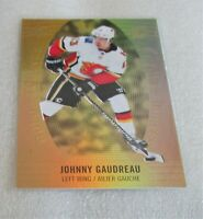 2019-20 Tim Hortons Johnny Gaudreau Gold Etching GE-5 Card! Calgary Flames NM SP