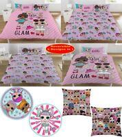 LOL Surprise Glam Print Cushion Duvet Covers Retro Bedding Set With Pillowcases