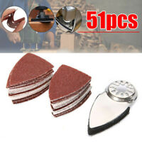 60-240 Grits Triangle Sandpaper Sheets Finger Sanding Disc Pads Oscillating Tool