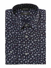 Paul Smith London $285 Floral Spot Tailored Fit Shirt UKEUR15.5/39 Made In Italy
