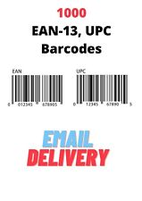 1000 High Quality EAN-13, UPC Barcode Numbers For Products, Ebay, Amazon, Onbuy