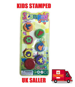 7Pc kids stamp set CARTOON STAMPS Kids Fun Stampers Craft STATIONERY PARTY BAG