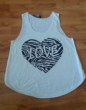 ker-bi-ker cooles Top Shirt  Herz Love Gr. M /L ca. 164 weiß