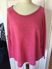 Ladies Pink Glitter Fine Knitted Jumper Top Size 20 Women's