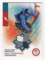 2014 Topps USA Olympic Team Relic Nick Goepper Freeskiing Memorabilia