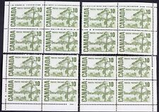 Canadian Stamp #462vii F/VF MNH 10 Cent Centennial Jack Pine 4 Plate Block Set