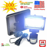 100 LEDs Solar Powered Sensor Light Security Flood Motion Outdoor Garden Lamp US