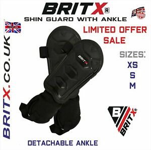 BRITX Shin Pads Charge Football Soccer Hockey Ankle Protectors pads Kids Youth