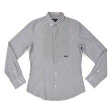 ARMANI Jeans Herren Hemd M 50 blau gestreift langarm Oberteil Men Shirt wie NEU