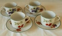 A set of 4 Royal Worcester Evesham Vale cups and saucers