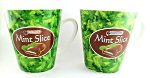 MINT Slice Mugs x 2 Collectable ARNOTTS Ceramic  cups