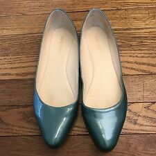 Nine West Speakup Women's Flats Sz 7.5M Green Ballet Shoes -SH2
