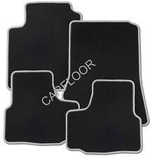 Für Renault Captur Bj. 5.13 - 5.17 Fußmatten Velours schwarz mit Rand dunkelgrau