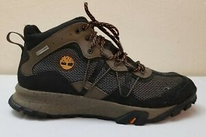 Timberland Men Garrison Hiking Trail Mid Boots Black Brown Lace Up Waterproof 11