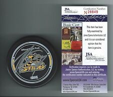 STEVEN STAMKOS SIGNED SARNIA STING OFFICIAL GAME PUCK JSA AUTHENTICATED