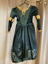 Disney Store Brave Princess Merida Dress Up Costume Green Size S 5/6