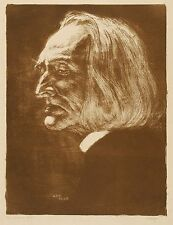FRANZ LISZT - BILDNIS - Karl Bauer - Lithografie 1904