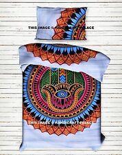 Mandala Indian Duvet Doona Cover Hamsa Bedding Blanket Set Hippie Comforter Set