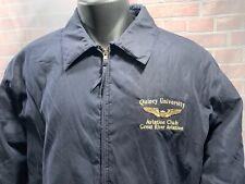 Quincy University Aviazione Club Ottimo Fiume Aviazione Giacca Uomo Taglia L