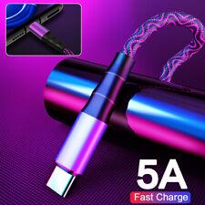 5A Usb-C TIPO C Rápido Cargador Datos Sincronización Cable Para 10+ Huawei P30 Samsung S10 Note