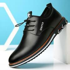 Men's Genuine Leather Casual Shoes Breathable Antiskid Sneakers Slip On Oxfords