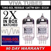 Brand New Tung-Sol Reissue  12AT7 6201 ECC81 GAIN MATCHED Pair (2) Vacuum Tubes