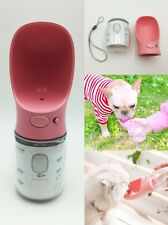 Dog Cat Pet Water Drinking Bottle Travel Outdoor Portable Feeder Cup 350ML