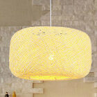 moderno rotondo rattan/vimini stile pendente a soffitto luce lampada paralumi