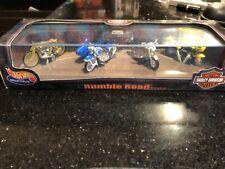 Hot Wheels Harley-Davidson Rumble Road Motorcycle Set W 4 HARLEY MOTORCYCLES