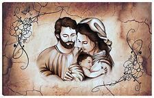 Quadro moderno 100x60 sacra famiglia madonna gesù nascita testata letto arredo