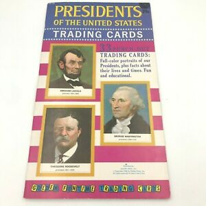 Golden Press US Presidents Trading Cards Unpunched 1960 Funtime Booklet BK0