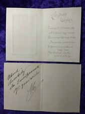 King Edward VII signed Royal Christmas card/letter - Queen Vicoria's Eldest son
